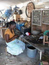 Local lady making Jewellerey